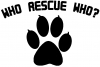 Who Rescue Who Animals car-window-decals-stickers