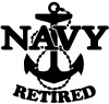 Navy Retired With Anchor