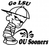 Go LSU Pee On OU Sooners Pee Ons Car Truck Window Wall Laptop Decal Sticker
