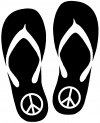 Peace Sign on Flip Flops