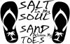 Salt In My Soul Sand Between My Toes Flip Flops Palm Tree