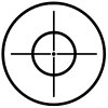 Crosshairs Hunting And Fishing car-window-decals-stickers