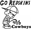 Go Redskins Pee On Cowboys Sports Car Truck Window Wall Laptop Decal Sticker