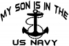 My Son Is In The US Navy With Anchor