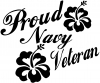 Proud Navy Veteran Hibiscus Flowers