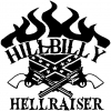 Hillbilly Hellraiser Country Car Truck Window Wall Laptop Decal Sticker