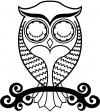 Cute Owl On Small Swirl Tree Limb Girlie Car Truck Window Wall Laptop Decal Sticker