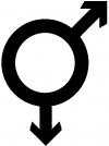 Gay Male Symbol  Car Truck Window Wall Laptop Decal Sticker