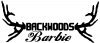 Backwoods Barbie With Antlers  Car Truck Window Wall Laptop Decal Sticker