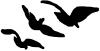 Three Birds Flying  Car Truck Window Wall Laptop Decal Sticker