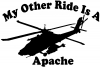 My Other Ride Is A Apache Helicopter