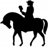 Circuit Rider Christian car-window-decals-stickers