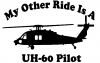 My Other Ride Is A  BlackHawk UH 60 Pilot Military car-window-decals-stickers