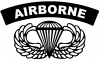 AIRBORNE Banner With Wings Military car-window-decals-stickers
