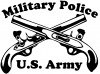 Military Police Cross Pistols With Text  Car Truck Window Wall Laptop Decal Sticker