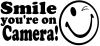 Smile Youre On Camera Funny Car Truck Window Wall Laptop Decal Sticker