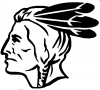 Native American Indian Head  Car Truck Window Wall Laptop Decal Sticker