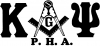 Kappa Alpha Psi Masonic PHA  Car Truck Window Wall Laptop Decal Sticker