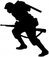 Soldier Silhouette Military Car Truck Window Wall Laptop Decal Sticker