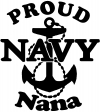 Proud Navy Nana Anchor