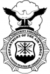 Department Of The Air Force Security Forces With Eagle  Car Truck Window Wall Laptop Decal Sticker