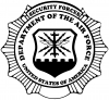 Department Of The Air Force Security Forces Round Badge  Car Truck Window Wall Laptop Decal Sticker
