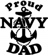 Proud Navy Dad Anchor