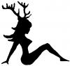 Sexy Chic with Deer Horns Sexy car-window-decals-stickers