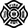 Fire Department EMT Military car-window-decals-stickers