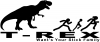 T Rex Wants Your Stick Family Funny car-window-decals-stickers
