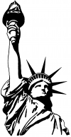 Statue Of Liberty   Car Truck Window Wall Laptop Decal Sticker