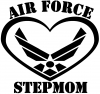 Air Force Step Mom Heart Military car-window-decals-stickers