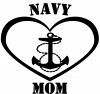 Navy Mom Heart Anchor