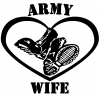Army Wife Combat Boots Heart  Car Truck Window Wall Laptop Decal Sticker