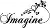 Imagine Girlie Car Truck Window Wall Laptop Decal Sticker