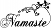 Namaste Girlie Car Truck Window Wall Laptop Decal Sticker