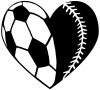 Soccer Softball Heart