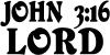 John 3 16 Lord