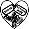 Proud Air Force Mom Dog Tags Heart Combat Boots  Military car-window-decals-stickers