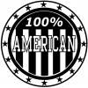 100 Percent American Pride  Car Truck Window Wall Laptop Decal Sticker