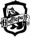 Harry Potter Hufflepuff Crest  Car Truck Window Wall Laptop Decal Sticker