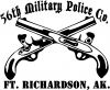 56th Military Police Co Ft Richardson AK  Car Truck Window Wall Laptop Decal Sticker