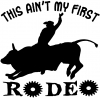 This Aint My First Rodeo Bull  Car Truck Window Wall Laptop Decal Sticker