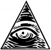 All Seeing Eye Illuminati Other car-window-decals-stickers