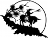 Native American Indian On Horse Desert Scene  Car Truck Window Wall Laptop Decal Sticker