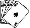 Poker Royal Flush Spades Biker Car Truck Window Wall Laptop Decal Sticker