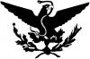 Mexican Flag Emblem Porfirian Era  Car Truck Window Wall Laptop Decal Sticker