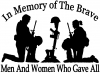 In Memory Of The Brave Men And Women Who Gave All Military car-window-decals-stickers