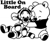 Little On Board Pooh Tigger Girlie car-window-decals-stickers