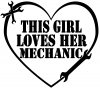 This Girl Loves Her Mechanic Girlie Car Truck Window Wall Laptop Decal Sticker